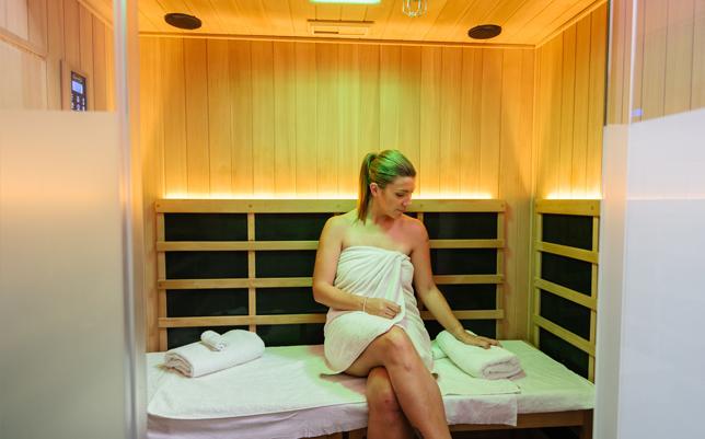 sauna woman